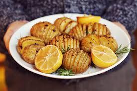 beautiful potato.  Beautiful Accordion Potatoes With Rosemary And Garlic In Beautiful Potato