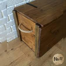 handmade wooden chest trunk blanket