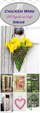 Floral Design Chicken Wire 31 Chicken Wire Diy Projects And Crafts That Are Fun And