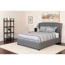 Light Grey Tufted Bed | Wayfair