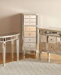 bedroom with mirrored furniture. Marais Accent Furniture Collection Mirrored Bedroom With E