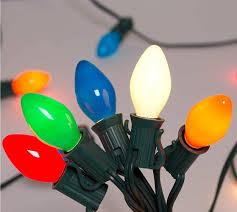 Easy Way Hang Christmas Lights Outdoor Buy 25ft Outdoor C7 Multicolored Ceramic Christmas Lights