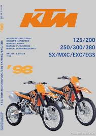 2018 ktm owners manual. beautiful owners 1998 ktm 125 200 250 300 380 sx mxc exc egs owners handbook_page_page_1 with 2018 ktm owners manual