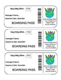 Passport Unit Boarding Happy Activity -print Crafts Airlines And Free The Holidays- Kid An… World Your Holid… Holidays Christmas Around Pass