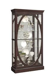 Pulaski P021569 Sable Oval Framed Mirrored Curio Cabinet 43.0
