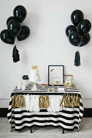 spectacular black and white party dessert table 10 monochrome party ideas tinyme blog