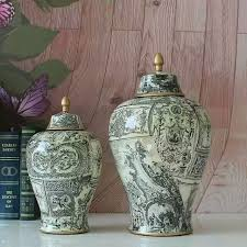 Decorative Jars And Vases Europe type restoring ancient ways ceramic temple jar storage jar 95