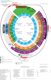 United Center Seating Chart Adele Adelaide Oval Seating Map Austadiums