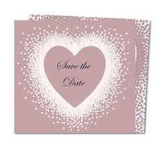 Save The Date Card Crystal Heart Planet Cards Co Uk