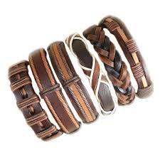 Handmade Fashion <b>2019</b> Wholesale 6pcs brown punk <b>bracelet</b> ...