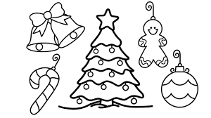 How To Draw Christmas Tree And Decorations For Kids Christmas Tree