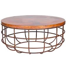 unique shape round copper coffee table astounding modern contemporary form furniture wooden top steel bronze
