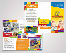 baby pamphlets 14 daycare brochure templates free psd eps illustrator ai pdf