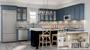 a before and after of a major kitchen remodel