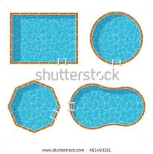 swimming pool vector. Swimming Pools Top View Set Isolated On White Background. Pool Vector K