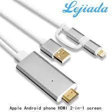 Lejiada Cáp HDTV Chuẩn Bị Tivi Di Động Cho Apple HDMI Video Độ Nét Cao Với  Âm Thanh Và Cùng Truyền Hình Cáp Màn Hình 2 trong 1 Ổ Cắm Điện PL