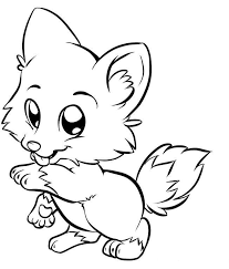Small Picture Cute White Fox Coloring Page Coloring Home