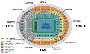 Sleep Train Arena Seating Chart Concert The Killers At London Emirates Stadium Ticket Prices