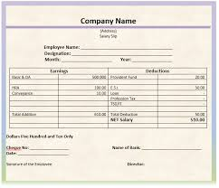 Payment Slip Format In Word Amazing Salary Slip Templates 48 Free Printable Word Excel PDF