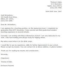 Sample Cover Letter For Primary School Application Adriangatton Com