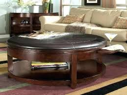 leather storage ottoman coffee table leather coffee table ottomans fascinating round leather storage ottoman coffee table