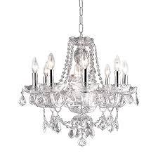 elegant lighting princeton 20 in 8 light chrome crystal crystal candle chandelier