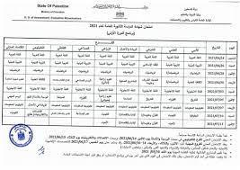جدول امتحانات الثانوية العامة #الجديد... - أخبار تعليم فلسطين