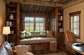 barn office designs. rustic window seat crafted from reclaimed wood for the home office design van bryan barn designs