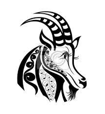 Obraz Znamení Zvěrokruhu Kozoroh Tetování Design