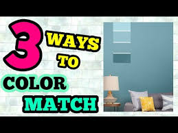 3 ways to color match paint for walls