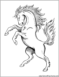Running Horse Coloring Book Pictures Wow
