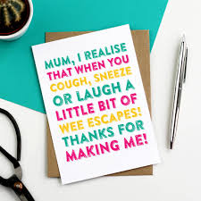 Happy Mothers Day Laugh Sneeze Cough Funny Card By Do You Punctuate