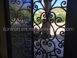 Wrought Iron Designs China Ornamental And Functional Front Door With Wrought Iron