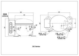 china sikelan dc 12v 24v r134a hermetic refrigeration compressor Capacitors for Compressor Wiring Diagram at Danfoss Compressor 12v Wiring Diagram