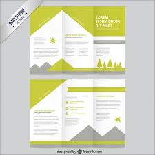 Templates For Brochures Free Download Nature Brochure Template Vector Free Download