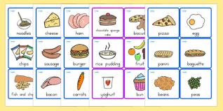 Food Flash Cards Food Cards Food Food Words Word Cards Flashcards Visual Aid