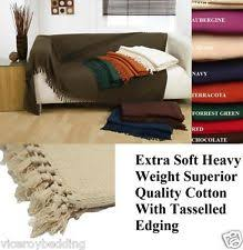 large size 100 cotton woven sofa bed throw blanket bedspread settee cover