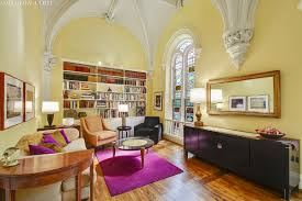 condo in a former carroll gardens church comes with stained glass vaulted ceilings