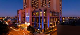 hilton austin hotel austin texas exterior at night