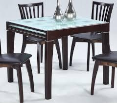 Expandable Kitchen Table Dining Room Elegant Glass Top Expandable Dining Table Sets
