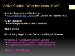 Ppt Active Citation The Coming Revolution In Qualitative Methods