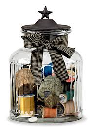 Decorative Glass Jars With Lids Decorative Ridged Glass Jar with Metal Lid Accented by Black Star 37
