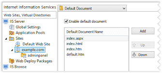 Configuring IIS Web Sites and Virtual Directories