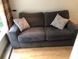 seater fabric dfs grey couchsofa nearly
