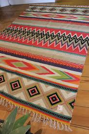 mexican aztec floor rug large style