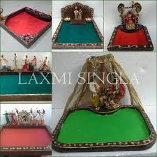 Saree Tray Decoration Indian Wedding ThemeSaree Packing Trays Paper Mache Theme Trays 71