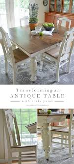 kitchen table sets kw transforming an antique dining table and chairs using white chalk pain