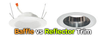 Colored Recessed Light Covers Baffle Vs Reflector Trim Of Recessed Downlight