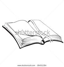 vector sketch of open book with empty pages