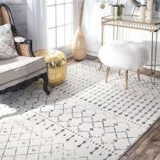 nuloom transitional vintage moroccan trellis area rug 5 x 7 5